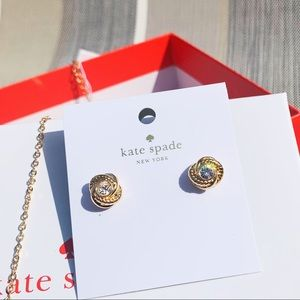 NWT Authentic Kate Spade ♠️Gold Earings